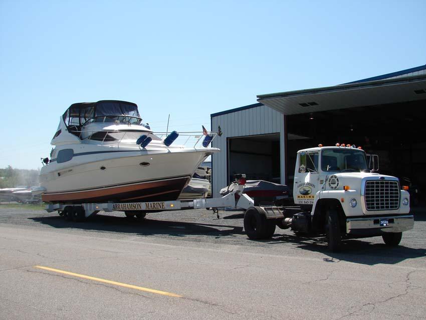 Abrahamson Marine in Ludington MI - Boat Storage